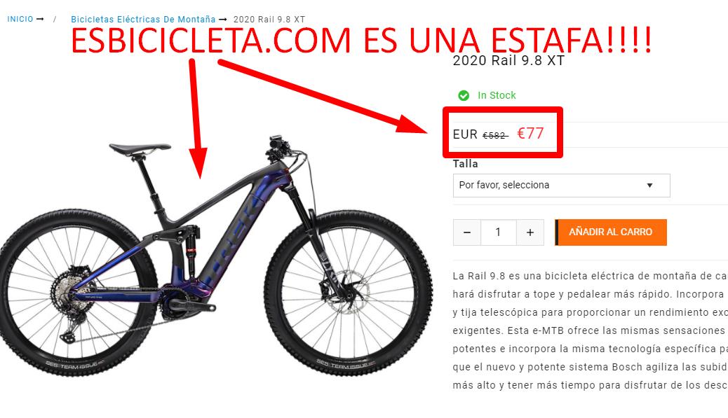 esbicicleta.com opiniones