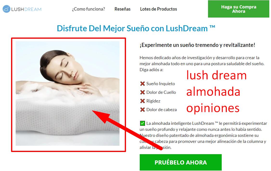 lush dream almohada opiniones