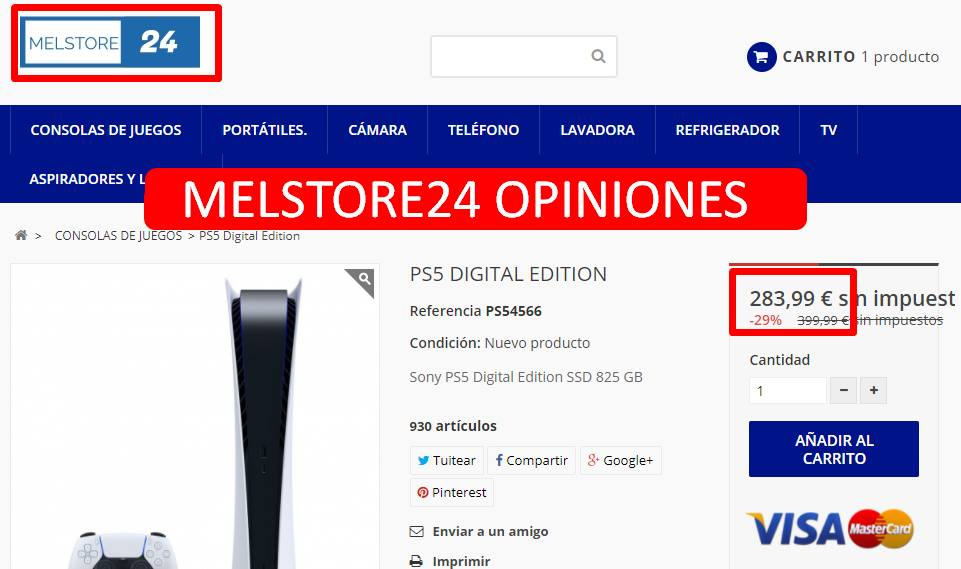MELSTORE24 OPINIONES