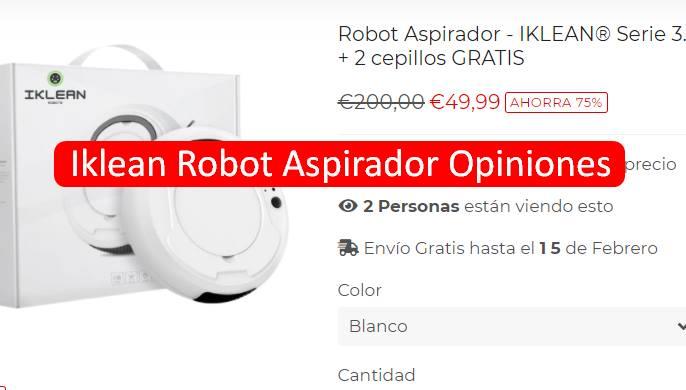 Iklean Robot Aspirador Opiniones