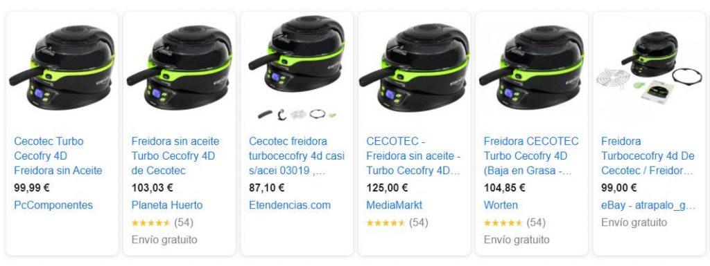 mejores comprar precio Turbo Cecofry 4D