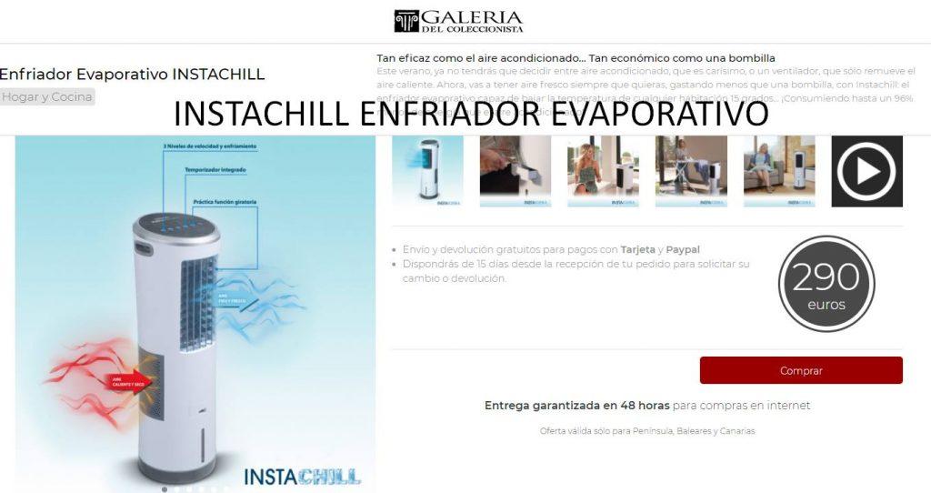 INSTACHILL ENFRIADOR EVAPORATIVO galeria coleccionista